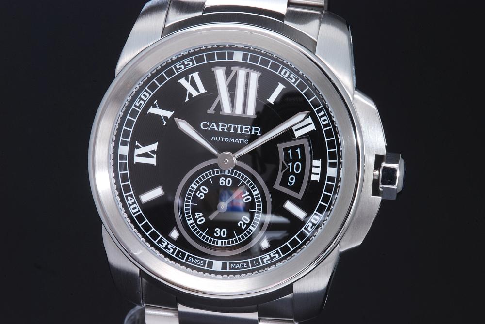 カルティエ W7100016 カリブル ドゥ カルティエ 黒 メンズ