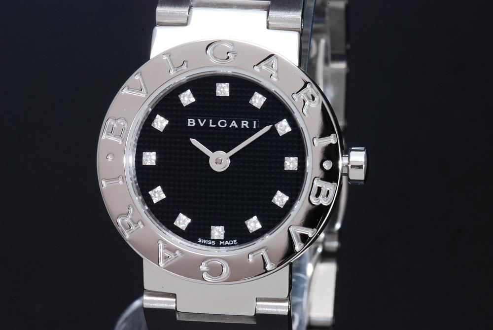 ブルガリ BB23BSS/12 ブルガリブルガリ 12Pダイヤ 黒