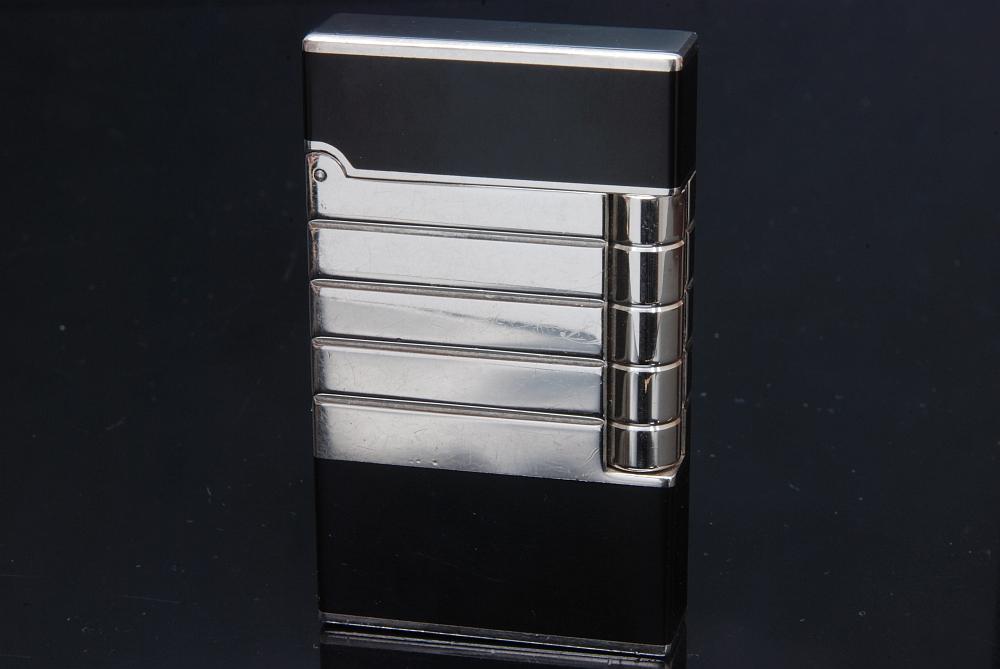 デュポン ライン2 ライター 16782 シルバーxブラック【メーカーオーバーホール済】