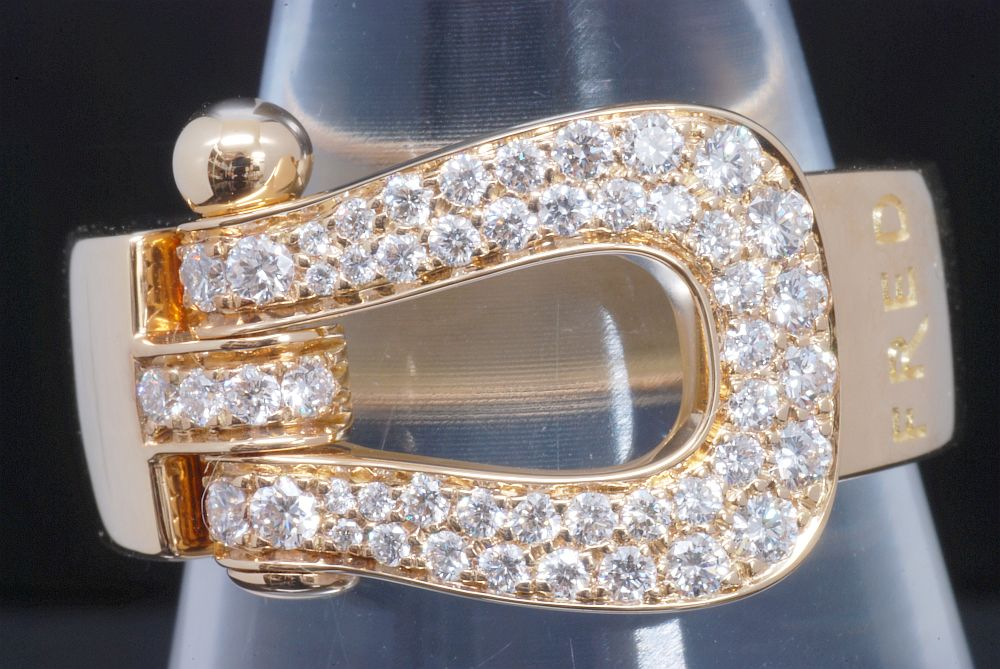フレッド フォース10 ラージモデルリング ダイヤモンド K18YG イエローゴールド #55【正規品・美品】