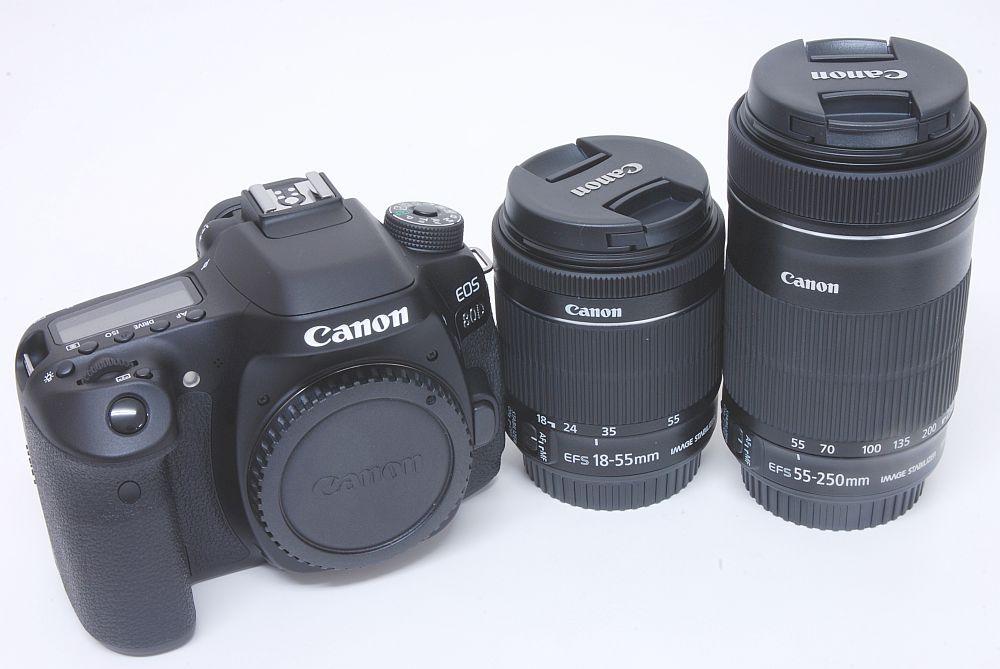 キャノン EOS 80D ダブルズームキット EF-S18-55mm IS STM/ EF-S55-250mm IS STM 【新品】