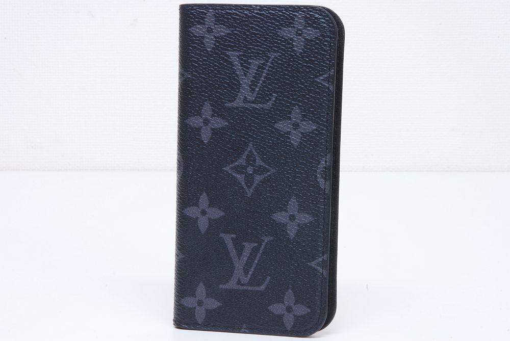 ヴィトン モノグラム エクリプス iPhone7 フォリオ アイフォンケース M62640