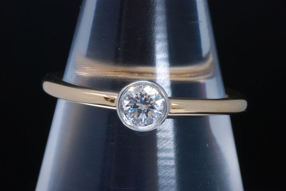 ティファニー ビゼット ダイヤモンド リング K18YG イエローゴールド PT950 プラチナ #5.5【正規品・美品】