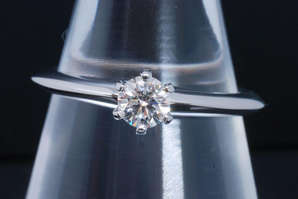 ティファニー ソリティア ダイヤモンド リング PT950 プラチナ ダイヤ 0.25ct【新品同様】