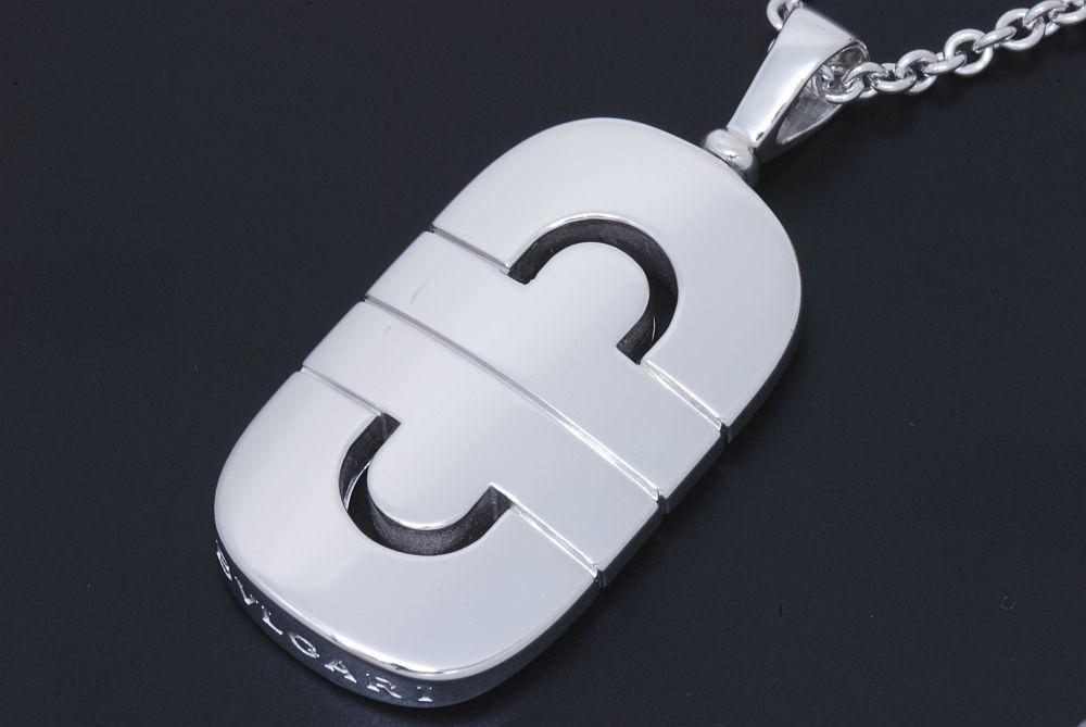 ブルガリ パレンテシ ペンダント ネックレス K18WG ホワイトゴールド【美品】