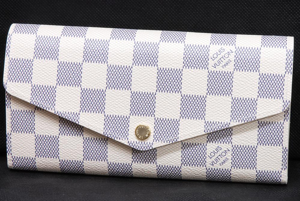 ヴィトン ダミエ アズール ポルトフォイユ サラ 二つ折 長財布 N63208【新品】