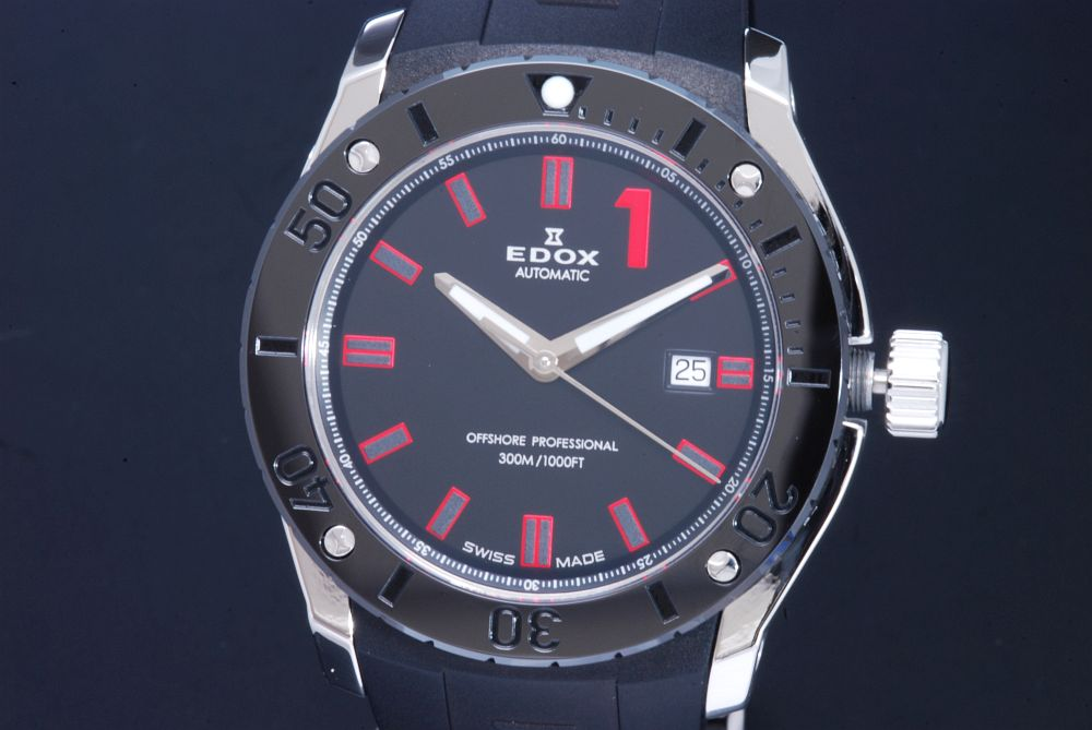 エドックス EDOX 80088-3N-NRO クラスワン クロノオフショア プロフェッショナル 300M メンズ ダイバー 黒