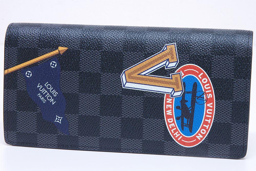 ヴィトン LVリーグ ダミエ グラフィット ポルトフォイユ ブラザ 二つ折長財布 N64438【新品】
