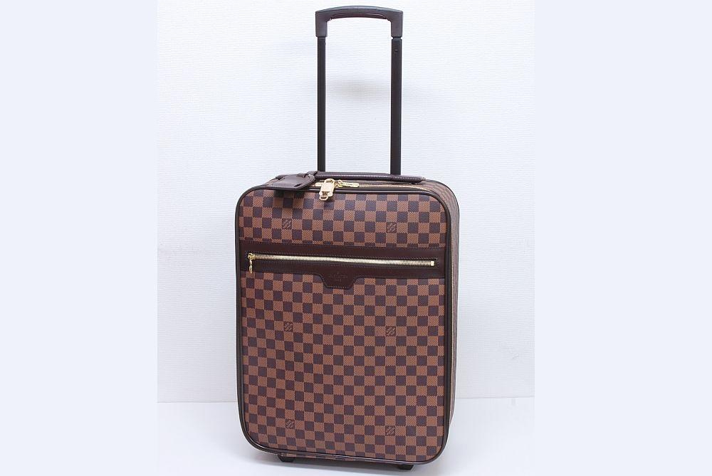 ヴィトン ダミエ ペガス45 キャリーバッグ キャリーケース トロリー キャスター付き旅行バッグ N23293【新品同様】