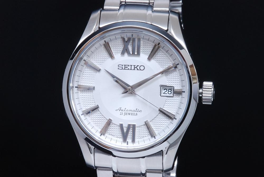 セイコー プレサージュ メカニカル SARX001 SS メンズ オートマ 6R15 シルバー文字盤【新品同様】
