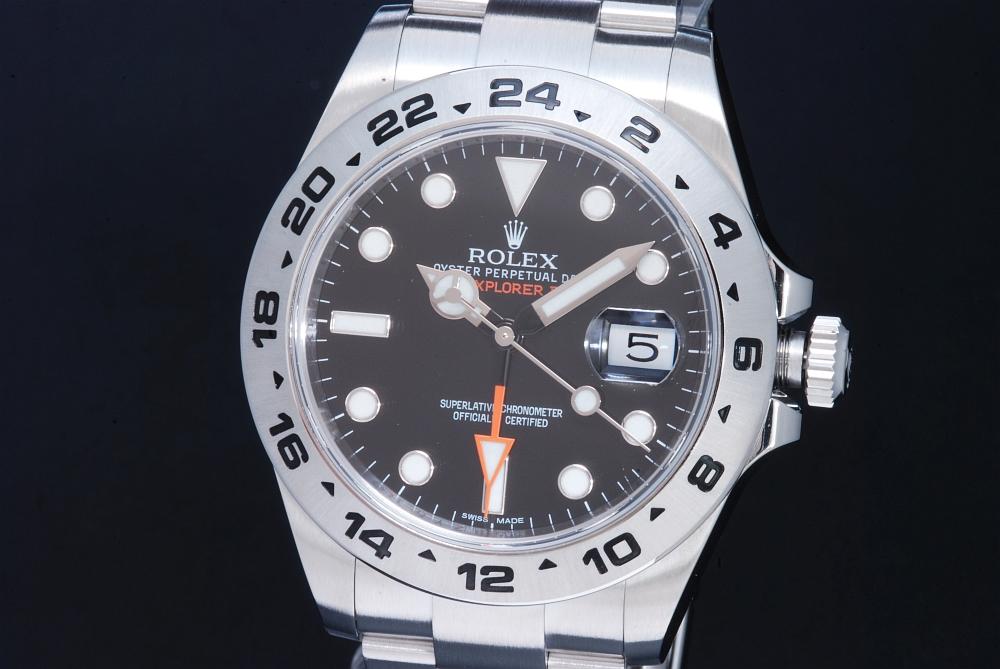 ロレックス 216570 エクスプローラー2 ランダム GMT メンズ 黒文字盤 ランダム【正規品】