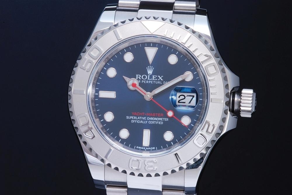 ロレックス 116622 オイスターパーペチュアル ヨットマスター40 ロレジウム メンズ SS/PT オートマ ブルー文字盤 ランダム【正規・新品】