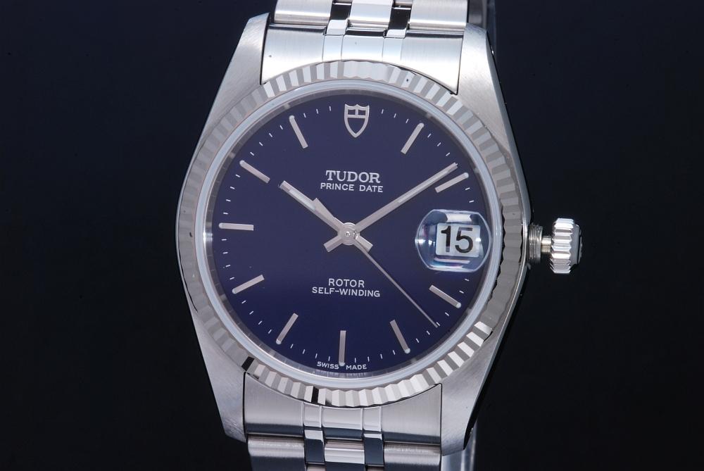チュードル TUDOR オイスター プリンス デイト 74034 ユニセックス SS/WG オートマ ブルー文字盤 ボーイズ