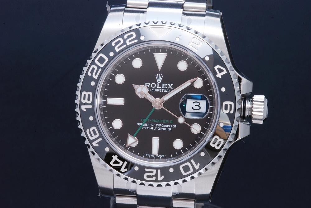 ロレックス 116710LN オイスターパーペチュアル GMTマスター2 メンズ SS オートマ ランダム 黒文字盤【新品】