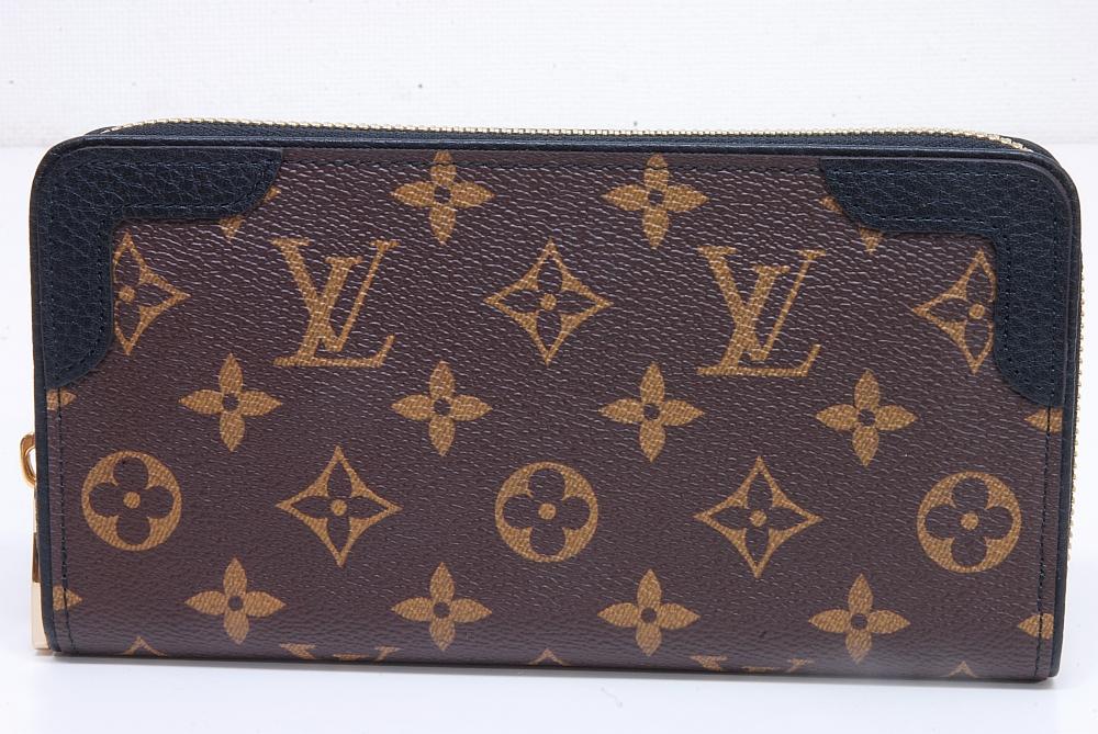 ヴィトン モノグラム ジッピーウォレット レティーロ ラウンドファスナー長財布 ノワール M61855