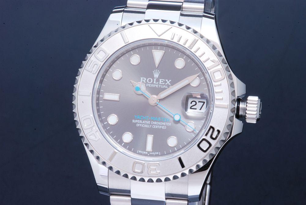 ロレックス 268622 オイスターパーペチュアル ヨットマスター37 ロレジウム ダークロジウム文字盤 ランダム【正規・新品】