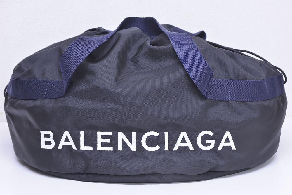 バレンシアガ WHEEL ウィールバッグ ホイールバッグ ボストンバッグ ナイロン ブラック 506782☆