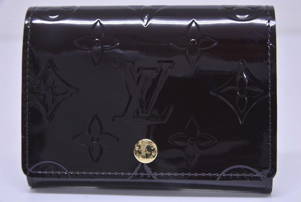 ヴィトン モノグラム ヴェルニ アンヴェロップ カードケース 名刺入 アマラント M91409【未使用】