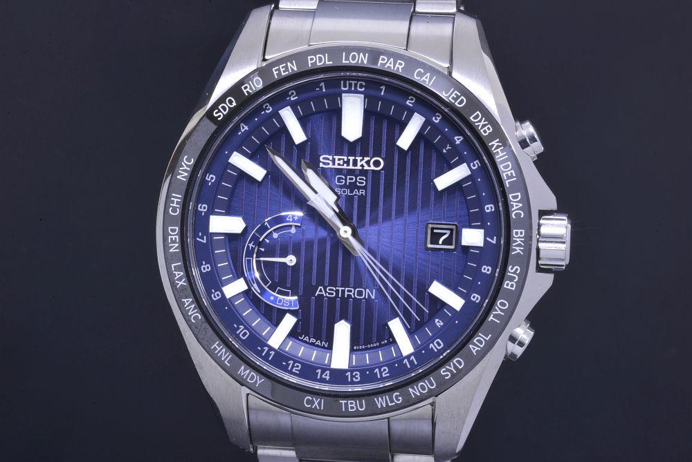 セイコー SBXB159 アストロン ワールドタイム GPSソーラー電波時計 メンズ SS/セラミック 8X82 ブルー文字盤