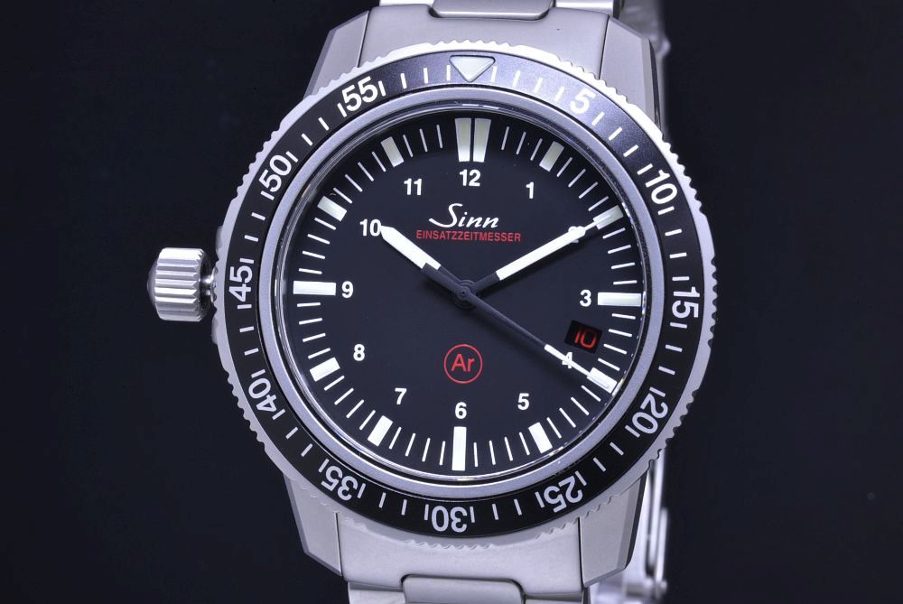 ジン SINN 603.EZM-3 ブレス メンズ SS オートマ ダイバー レフトハンド EZM3 黒文字盤【正規・新品】