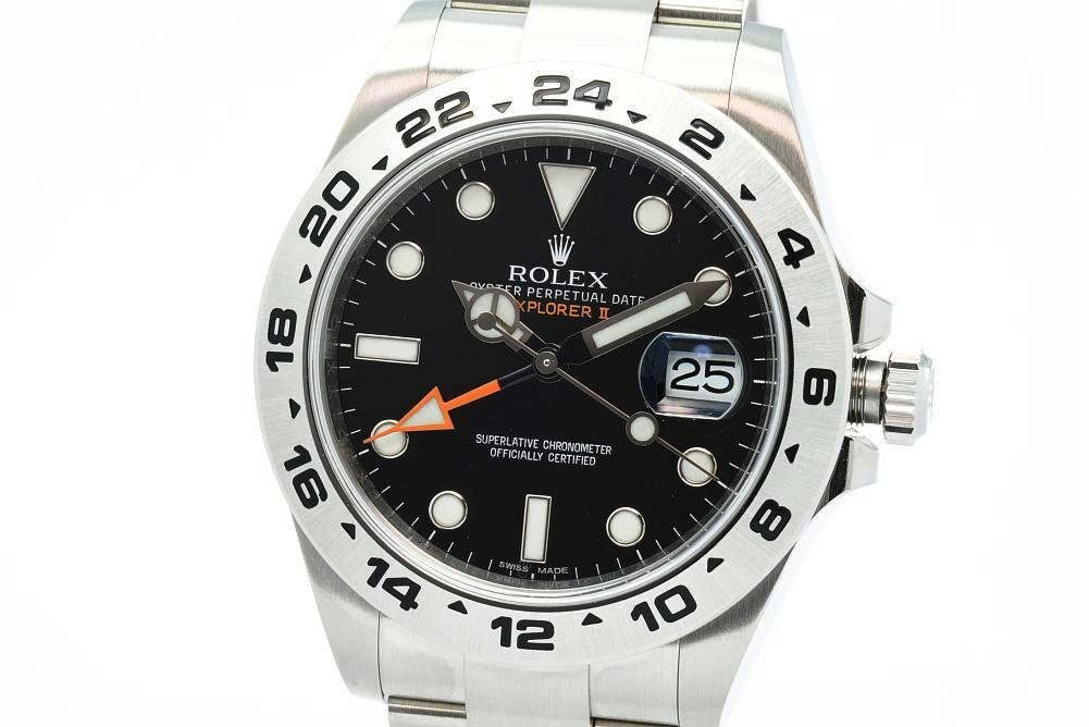 ロレックス 216570 オイスターパーペチュアル エクスプローラー2 GMT メンズ SS オートマ 黒文字盤 ランダム【未使用】
