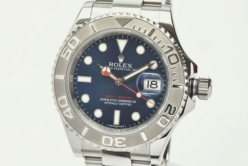 ロレックス 116622 オイスターパーペチュアル ヨットマスター40 ロレジウム メンズ SS/PT オートマ ブルー文字盤 ランダム【正規品】