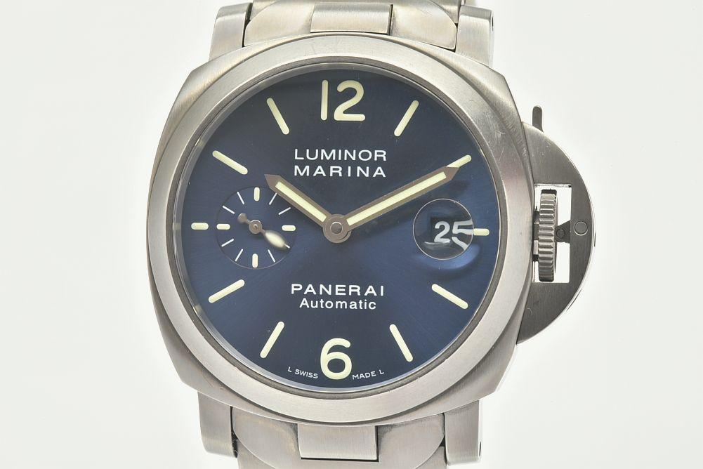 パネライ PAM00283 ルミノール マリーナ 40mm メンズ チタン/SS オートマ 青文字盤 K番 ユニセックス