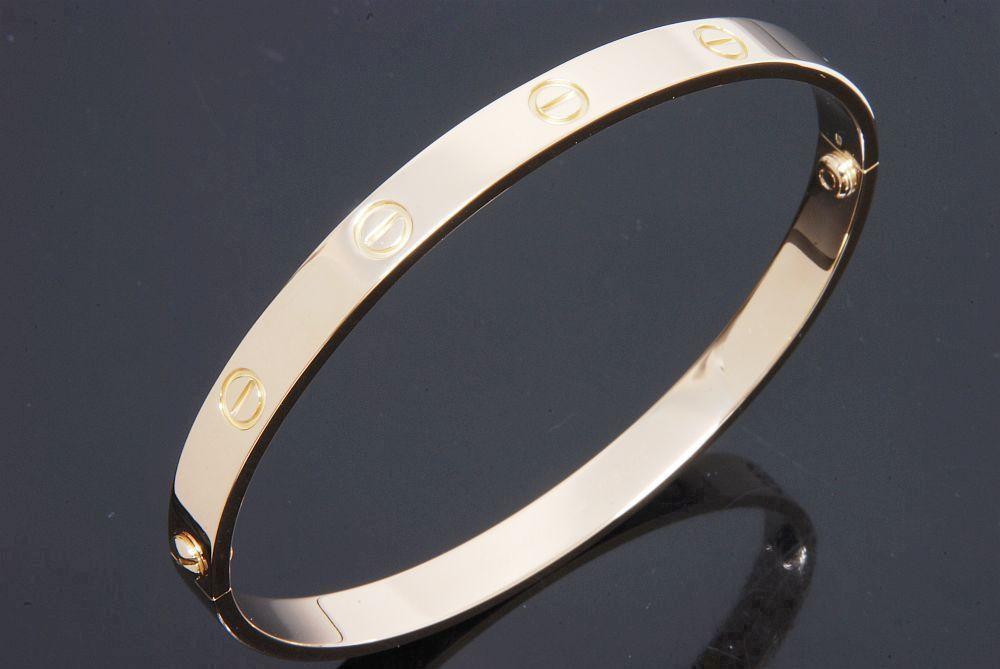 カルティエ ラブブレス ブレスレット K18YG イエローゴールド #20 B6035520【カルティエ修理済】
