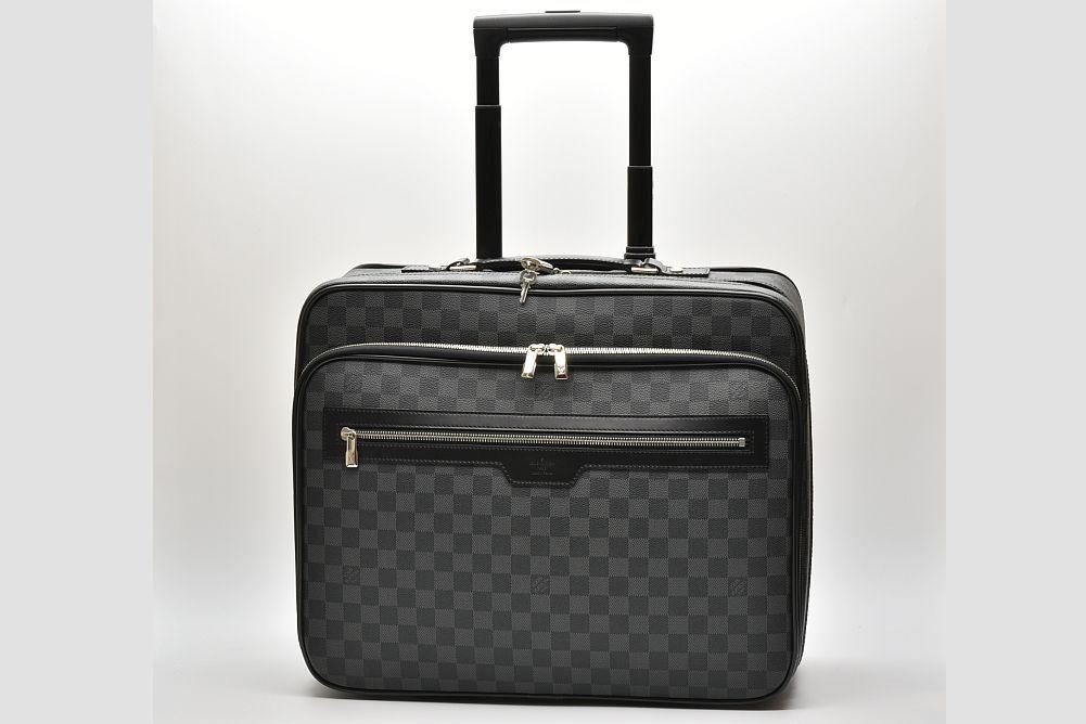 ヴィトン ダミエ グラフィット パイロットケース キャリーバッグ 旅行バッグ N23206