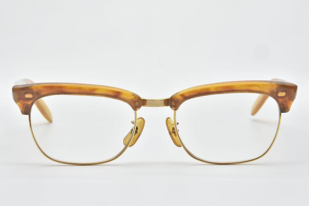 べっ甲眼鏡 K18イエローゴールド 鼈甲 メガネ 極上トロ甲