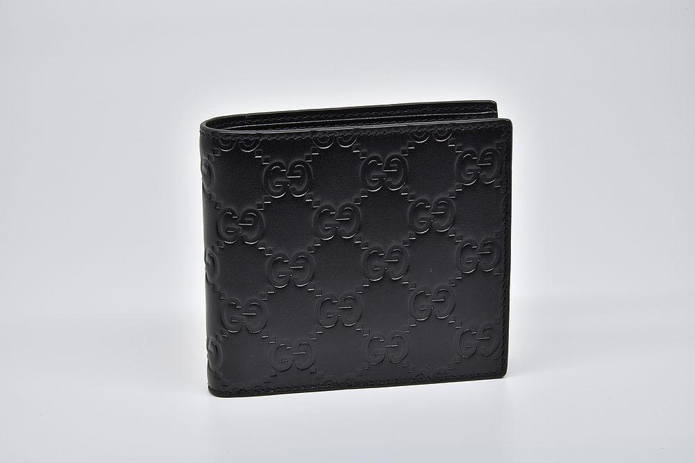 グッチ グッチシマ 小銭入付き 二つ折り財布 コインウォレット ブラック 146223