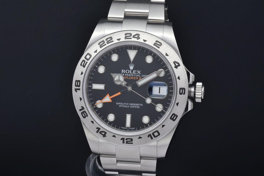 ロレックス 216570 オイスターパーペチュアル エクスプローラー2 GMT メンズ SS オートマ 黒文字盤 G番【正規品】