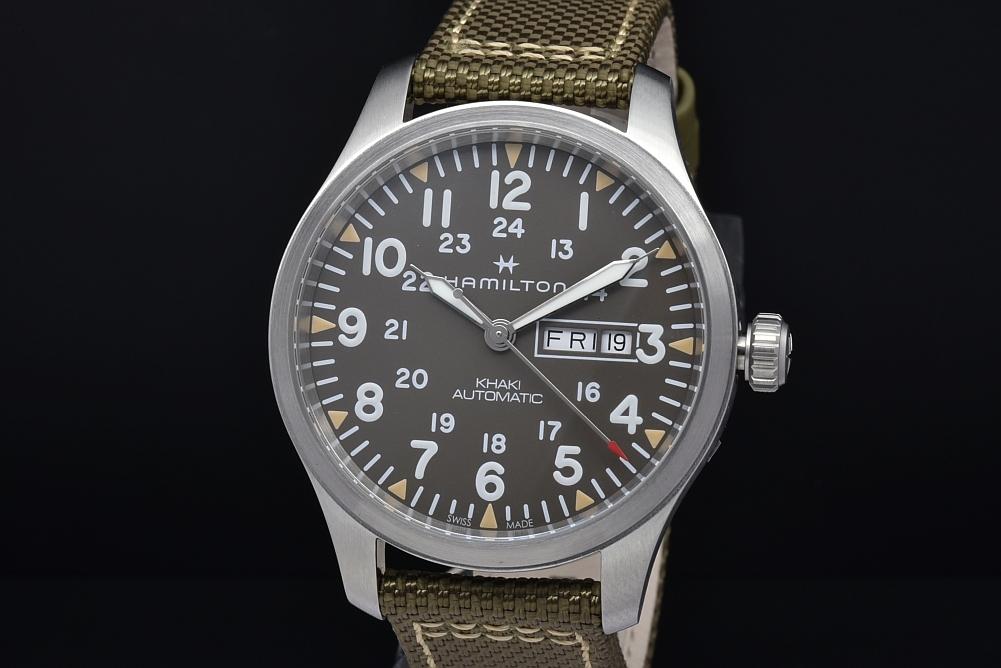 ハミルトン H70535081 カーキ フィールド デイデイト H-30 メンズ SS/ナイロン オートマ グレー文字盤【国内正規・新品】