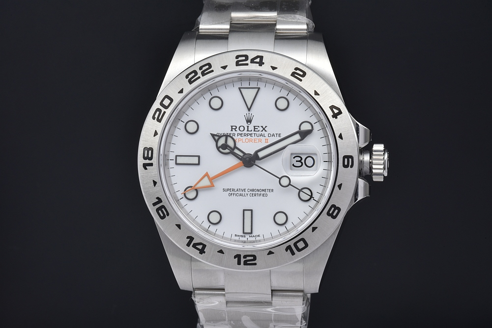 ロレックス 216570 オイスターパーペチュアル エクスプローラー2 GMT メンズ SS オートマ 白文字盤 ランダム【正規・新品】