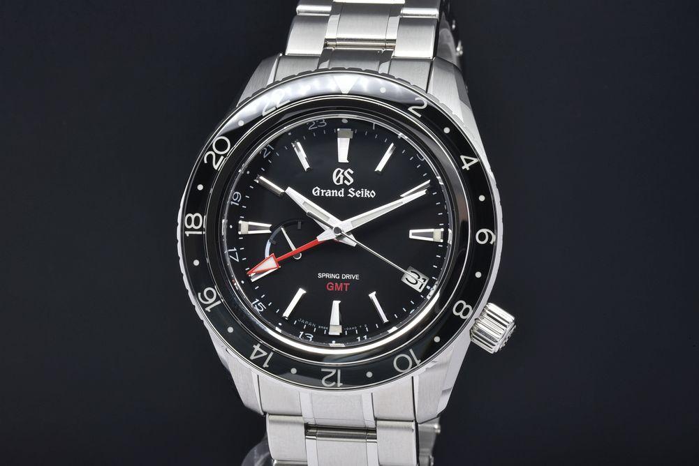 グランドセイコー SBGE201 スプリングドライブ GMT パワーリザーブ メンズ SS オートマ 9R66 黒文字盤【新品同様・正規品】