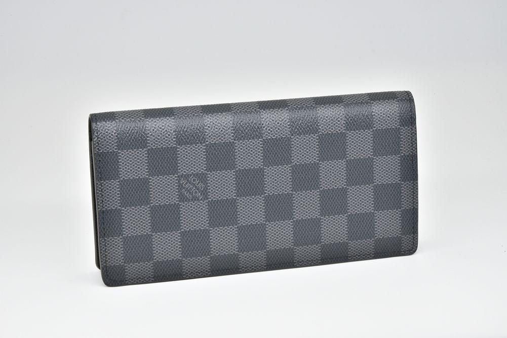 ヴィトン ダミエ グラフィット ポルトフォイユ ブラザ 二つ折り長財布 N62665【未使用】