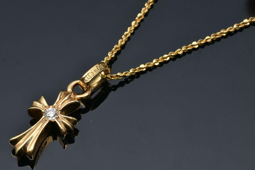クロムハーツ ベビーファット チャーム CHクロス K22 ダイヤ ペンダント ネックレス 2378-304-1400-9100【正規品】