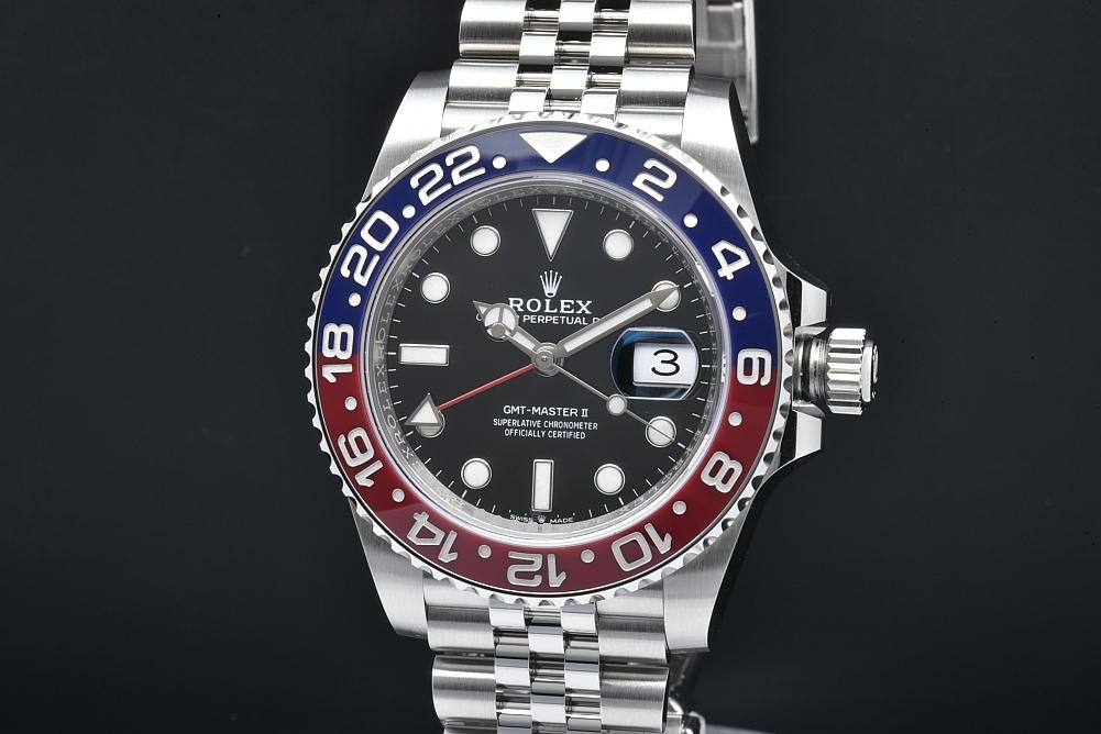 ロレックス 126710BLRO オイスターパーペチュアル GMTマスター2 ジュビリーブレス 青赤ベゼル ランダム【新品同様・正規品】