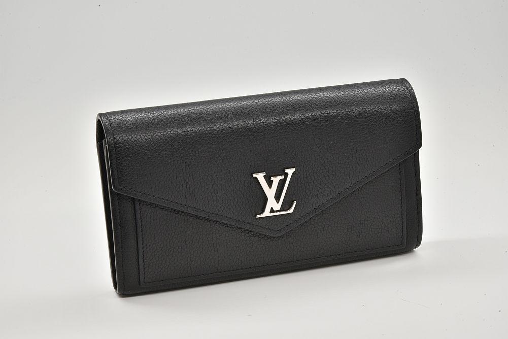 ヴィトン ポルトフォイユ マイロックミー カーフレザー 二つ折り長財布 ノワール M62530