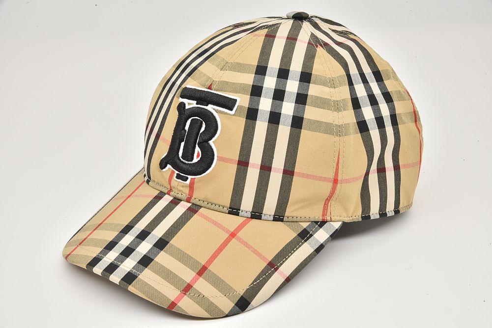 バーバリー モノグラムモチーフ ヴィンテージチェック コットン ベースボールキャップ 帽子 #59 Lサイズ 8027502【正規品・新品同様】