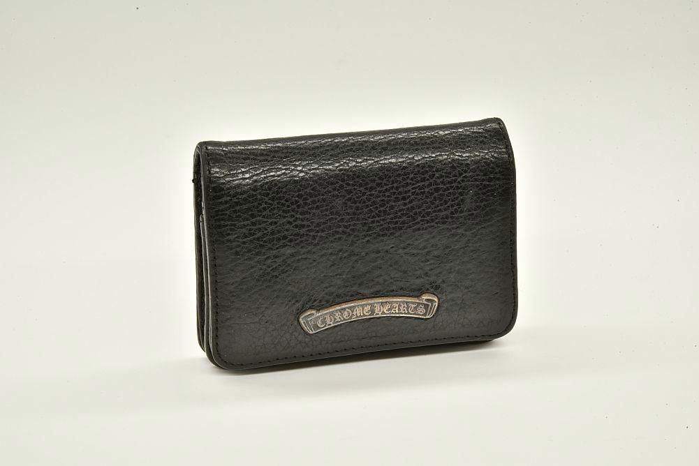 クロムハーツ レザー 3ポケット カードケース 名刺入れ ブラック