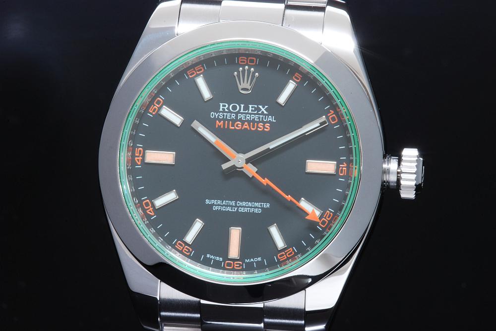 ロレックス ミルガウス 116400GV グリーンガラス V番