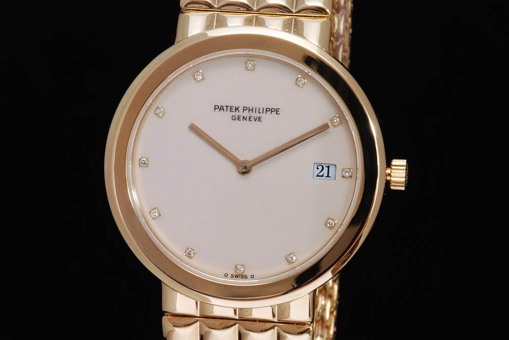 パテックフィリップ カラトラバ 3937/1 K18YG ダイヤ クォーツ メンズ