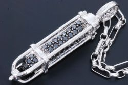 イーノス E-NO'S K18WG ブラックダイヤ0.95ct ペンダント ネックレス YS1271/YSN38【正規品・新品同様】
