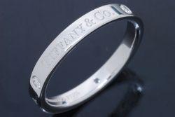 ティファニー ダイヤモンド バンド リング PT950 プラチナ 3Pダイヤ #16【新品同様】