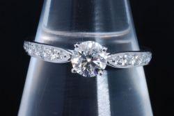 ティファニー ハーモニー ダイヤモンド リング PT950 プラチナ ダイヤ0.43ct G-VS2-3EX【鑑定書付・新品同様】