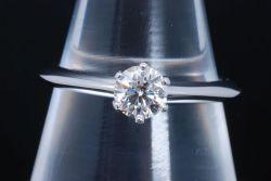 ティファニー ソリティア ダイヤモンド リング PT950 プラチナ ダイヤ 0.36ct【新品同様】