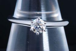 ティファニー ソリティア ダイヤモンド リング PT950 プラチナ ダイヤ 0.35ct【新品同様】