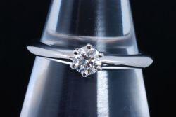 ティファニー ソリティア ダイヤモンド リング PT950 プラチナ ダイヤ 0.19ct【新品同様】