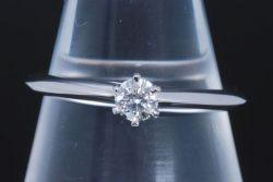 ティファニー ソリティア ダイヤモンド リング PT950 プラチナ ダイヤ 0.19ct【正規品・新品同様】